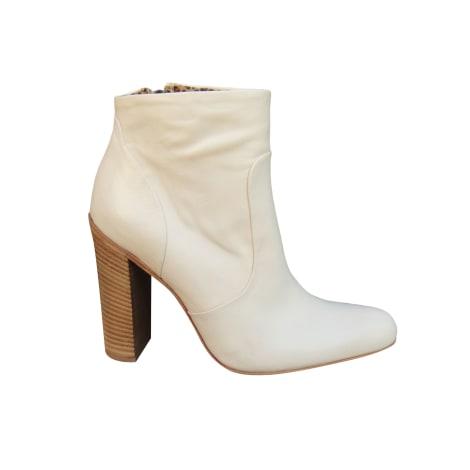Bottines & low boots à talons FREE LANCE Blanc, blanc cassé, écru