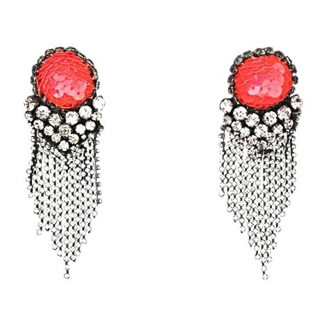 Boucles d'oreille SHOUROUK Crystal Swarovski, sequins rouge