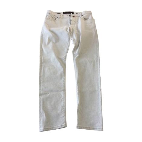 Jeans droit JACOB COHEN Blanc, blanc cassé, écru