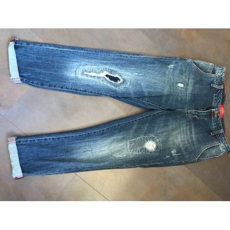 Jeans large, boyfriend STRADIVARIUS Bleu, bleu marine, bleu turquoise