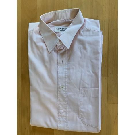 Short-sleeved Shirt YVES SAINT LAURENT Pink, fuchsia, light pink