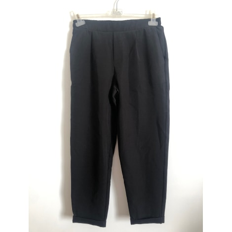 Pantalon droit PULL & BEAR Noir