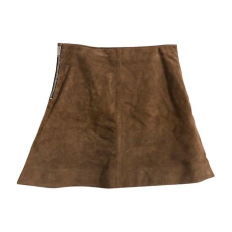 Mini Skirt YVES SAINT LAURENT Brown