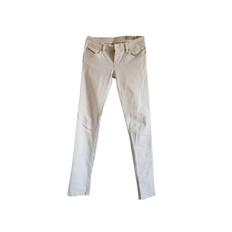 Jeans slim DIESEL Blanc, blanc cassé, écru