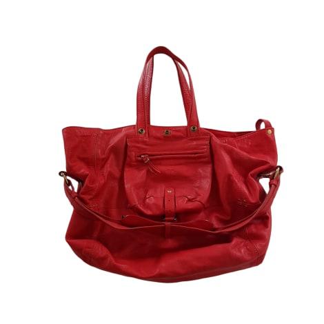 Leather Handbag JEROME DREYFUSS Red, burgundy