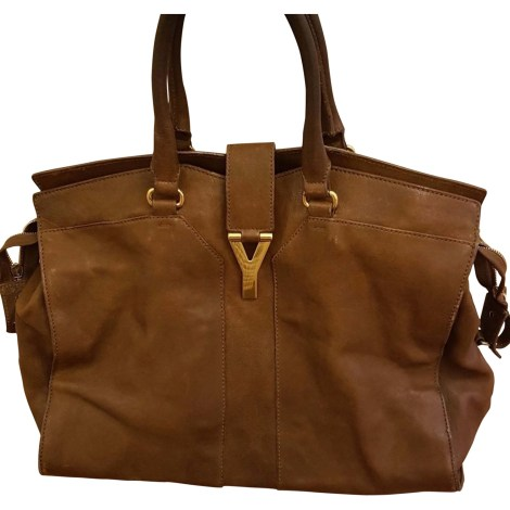 Leather Oversize Bag YVES SAINT LAURENT Chyc Brown