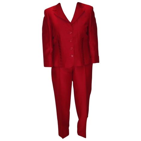 Tailleur pantalon 1.2.3 Rouge, bordeaux