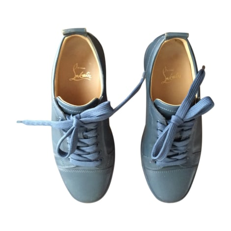 Baskets CHRISTIAN LOUBOUTIN Bleu, bleu marine, bleu turquoise
