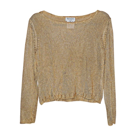 Sweater YVES SAINT LAURENT Golden, bronze, copper