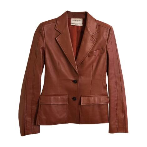 Jacket YVES SAINT LAURENT Rosso mattone