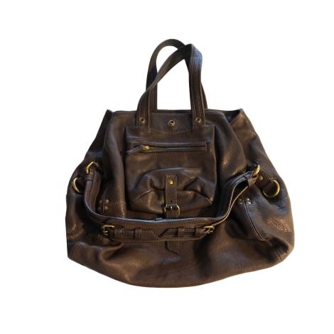 Leather Handbag JEROME DREYFUSS Brown