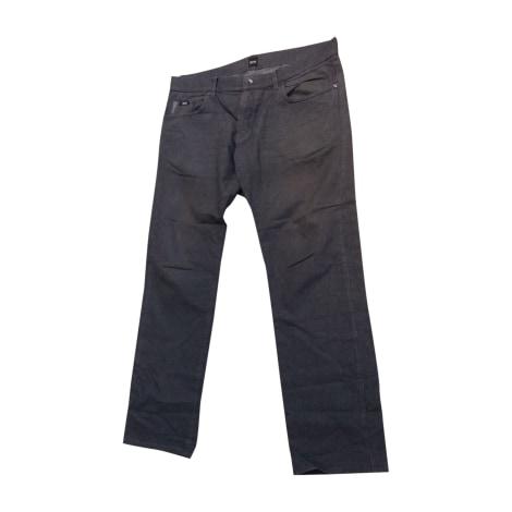 Pantalon droit HUGO BOSS Gris, anthracite