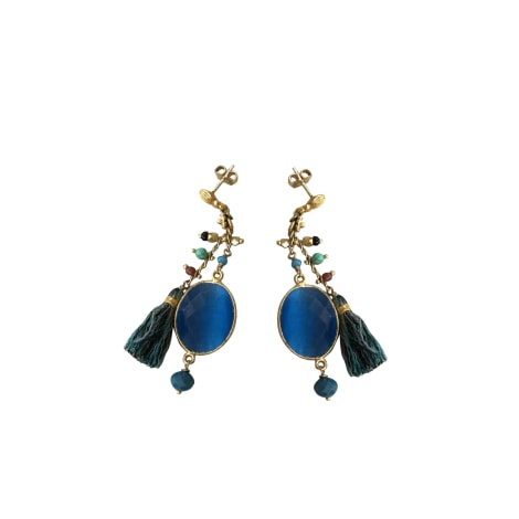 Earrings GAS BIJOUX Blue, navy, turquoise