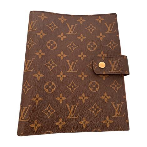Porte documents, serviette LOUIS VUITTON Beige, camel