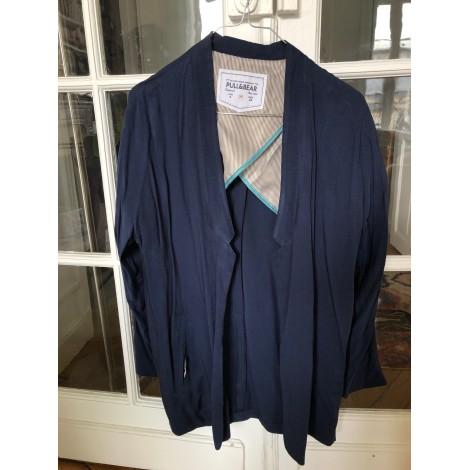 Blazer, veste tailleur PULL & BEAR Bleu, bleu marine, bleu turquoise