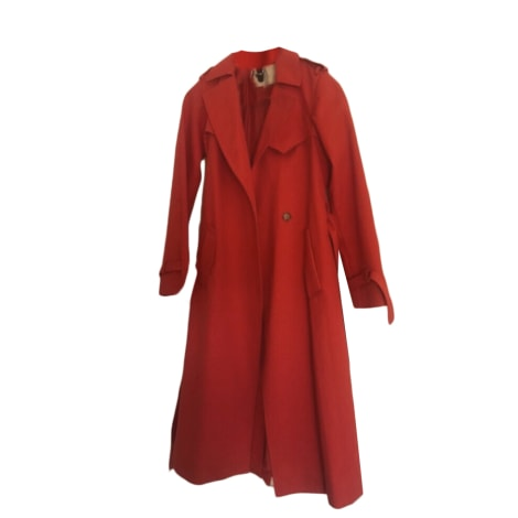 Regenjacke, Trenchcoat MAJE Rot, bordeauxrot