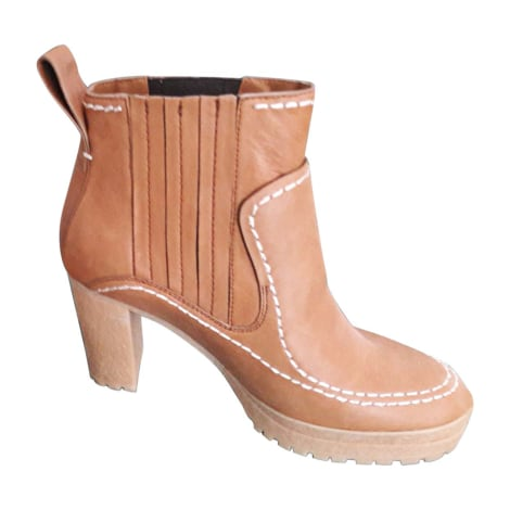 Bottines & low boots à talons SEE BY CHLOE Beige, camel