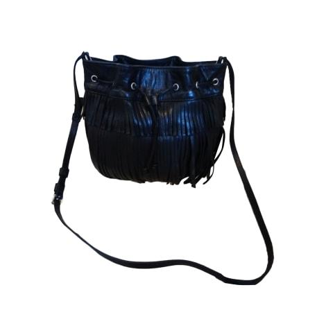 Leather Shoulder Bag GERARD DAREL Black