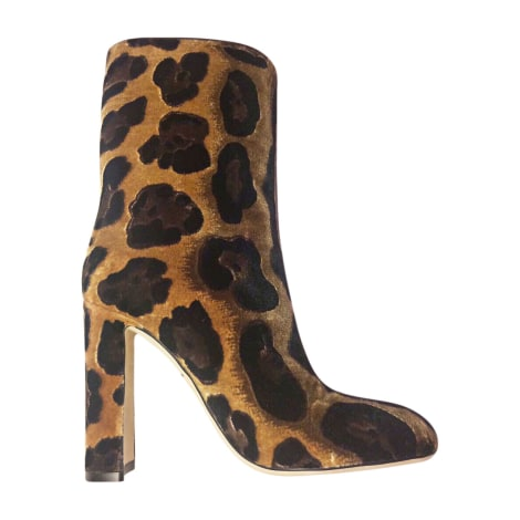 High Heel Ankle Boots DOLCE & GABBANA Animal prints