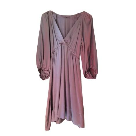 Maje Robe longue soie 40 (L, T3)