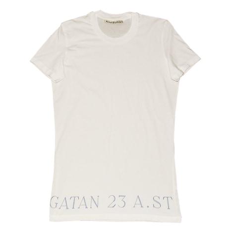 Tee-shirt ACNE Blanc, blanc cassé, écru