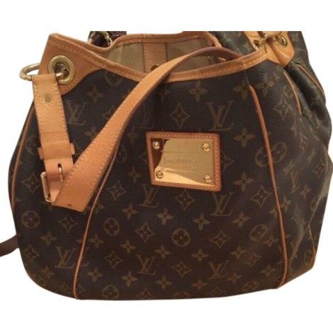 Leather Shoulder Bag LOUIS VUITTON Galliera Beige, camel