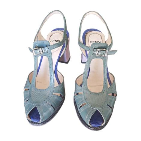 Sandales à talons FENDI Vert