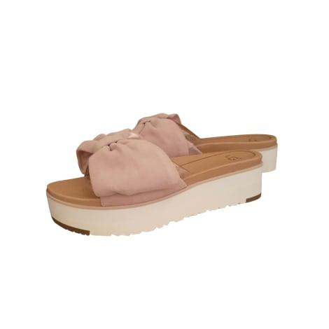 Wedge Sandals UGG Pink, fuchsia, light pink
