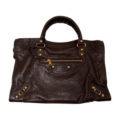Leather Shoulder Bag BALENCIAGA Brown