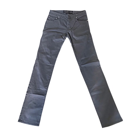 Jeans droit JACOB COHEN Marron