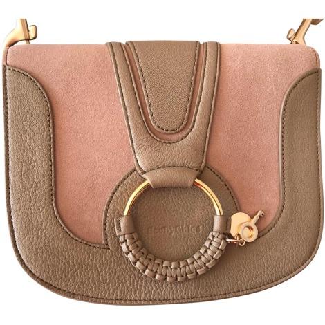 Leather Shoulder Bag SEE BY CHLOE Beige, camel
