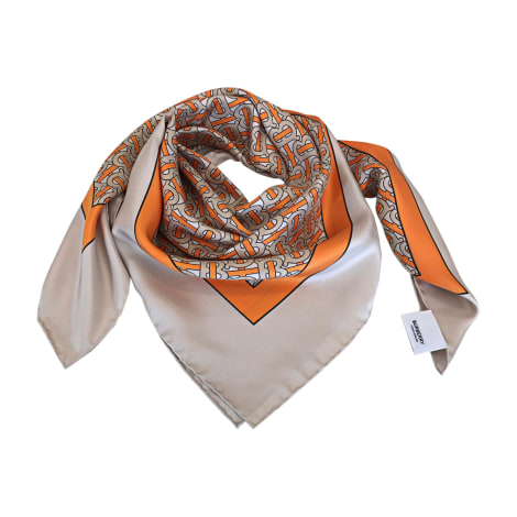 Silk Scarf BURBERRY Orange
