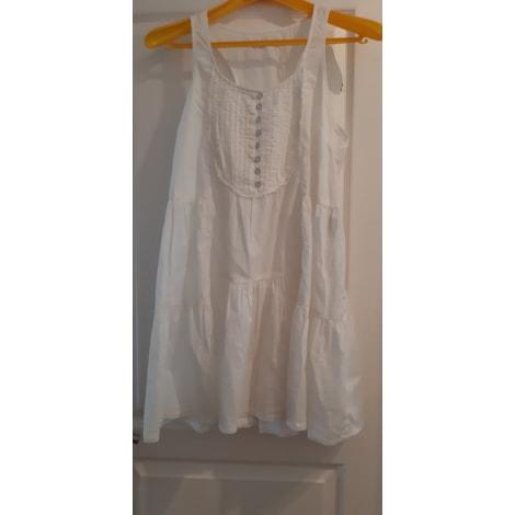 Robe mi-longue ONLY Blanc, blanc cassé, écru
