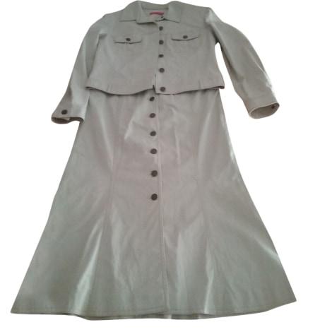 Tailleur jupe ALAIN MANOUKIAN Blanc, blanc cassé, écru