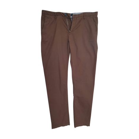 Straight Leg Pants HUGO BOSS Brown