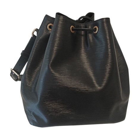 Leather Handbag LOUIS VUITTON Noé Black