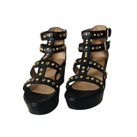 Sandales compensées GERARD DAREL Noir