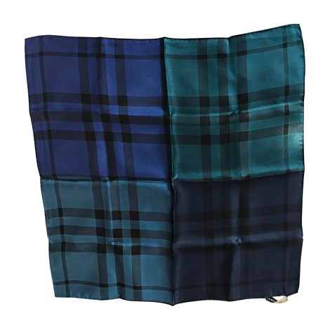 Silk Scarf BURBERRY Blue, navy, turquoise