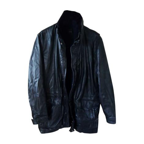 Manteau en cuir SMALTO Noir