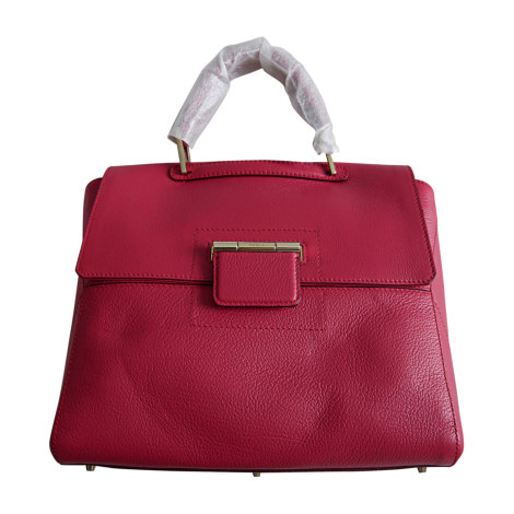 Leather Handbag FURLA Red, burgundy