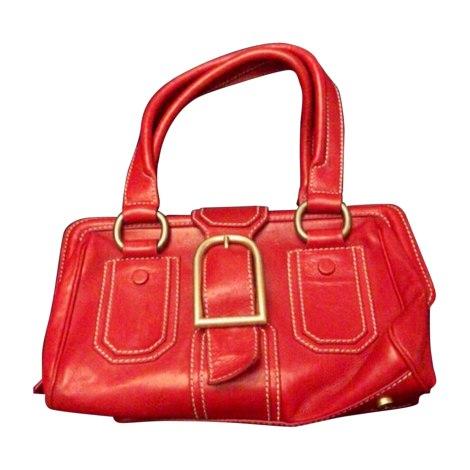 Leather Handbag CÉLINE Rouge