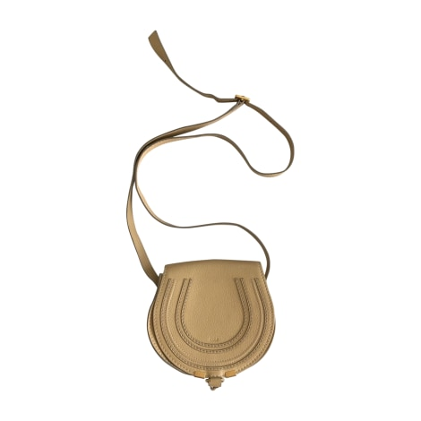 Leather Shoulder Bag CHLOÉ Marcie Yellow