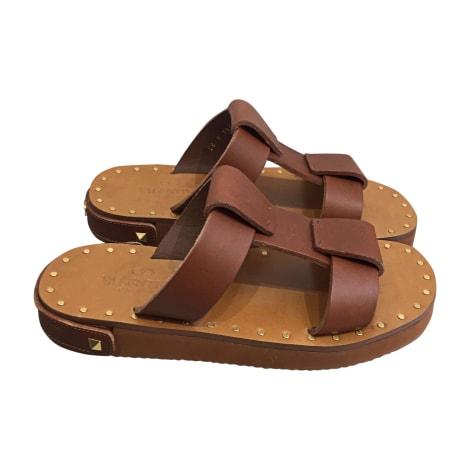 Sandales plates  VALENTINO Beige, camel