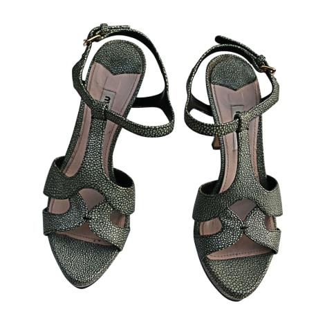 Heeled Sandals MIU MIU Blue, navy, turquoise