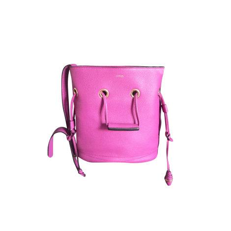 Leather Shoulder Bag LANCEL Pink, fuchsia, light pink