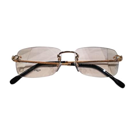 Monture de lunettes FRED Doré, bronze, cuivre