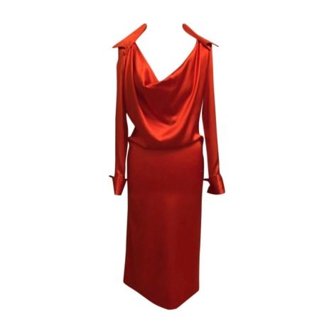 Midi Dress JEAN PAUL GAULTIER Blood Orange Red