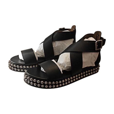 Sandales compensées CHLOÉ Noir