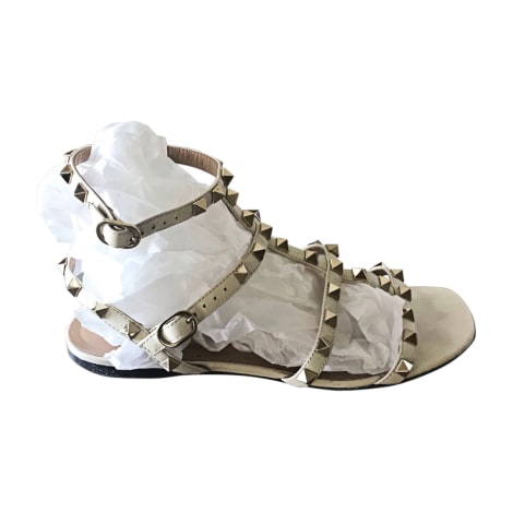 Sandales plates  VALENTINO Blanc, blanc cassé, écru