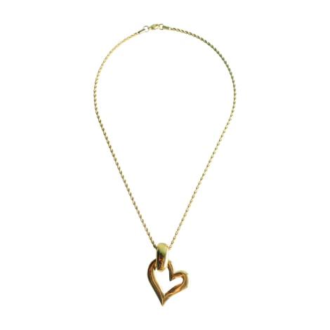 Pendant, Pendant Necklace YVES SAINT LAURENT Golden, bronze, copper